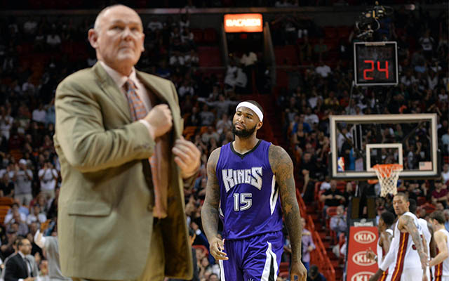Will DeMarcus Cousins help push George Karl out in Sacramento? (USATSI)