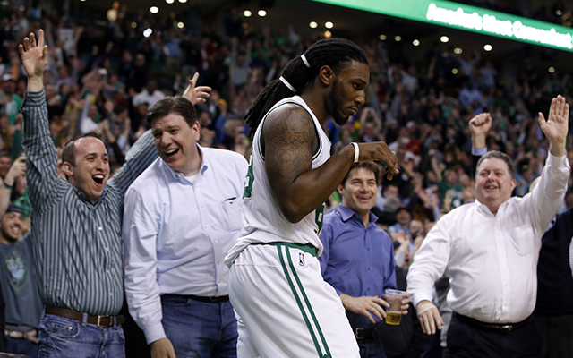 Jae Crowder clinched the 7-seed for the Celtics Tuesday.  (USATSI)