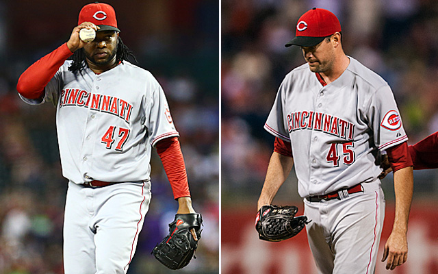Johnny Cueto and Sean Marshall are officially back with the Reds.