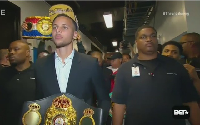 Chef Curry with the belt.