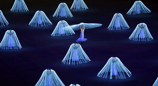 More dancers perform during the Opening Ceremony. (Reuters)