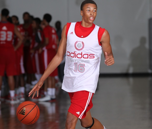 Dante Exum is arguably the best guard prospect in June's NBA draft. (Adidas)