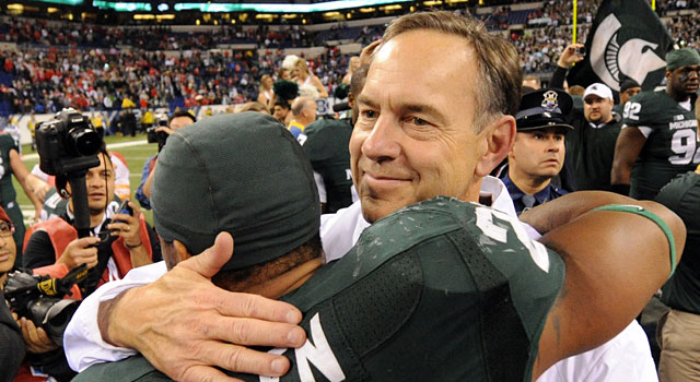 Mark Dantonio says he sees Michigan State as a destination, not a stop. (USATSI)