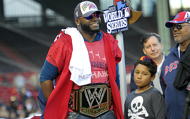 David Ortiz, rocking his championship belt.