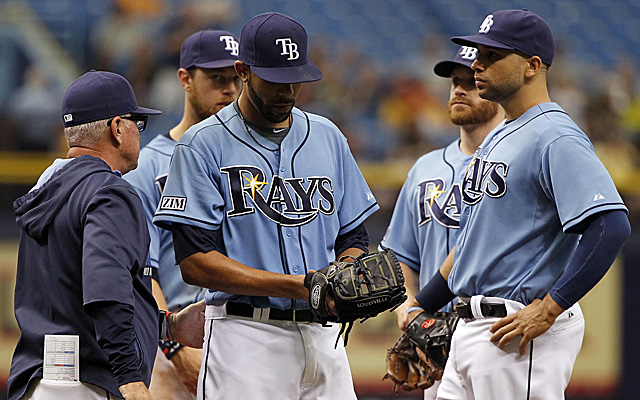 Was this the last exit from a game of David Price's as a member of the Rays?