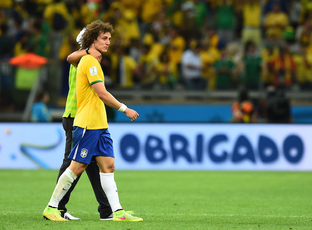David Luiz and Brazil were thoroughly embarrassed by Germany. (Getty Images)