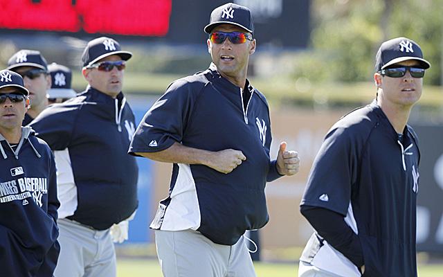 Just look at all that leadership Derek Jeter is showing.