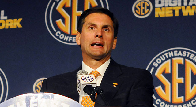 Derek Dooley had some tough times at Tennessee. (USATSI)