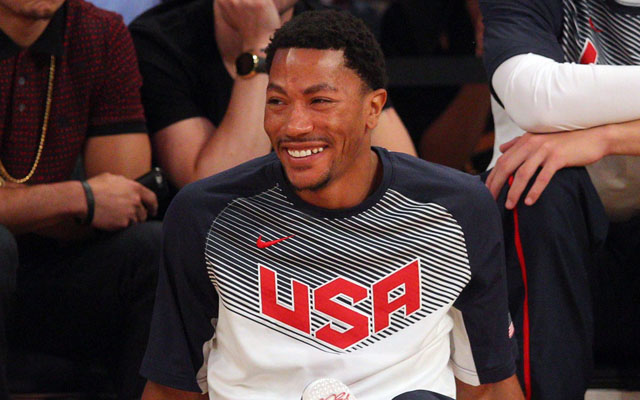 Derrick Rose is just happy to be back.  (USATSI)