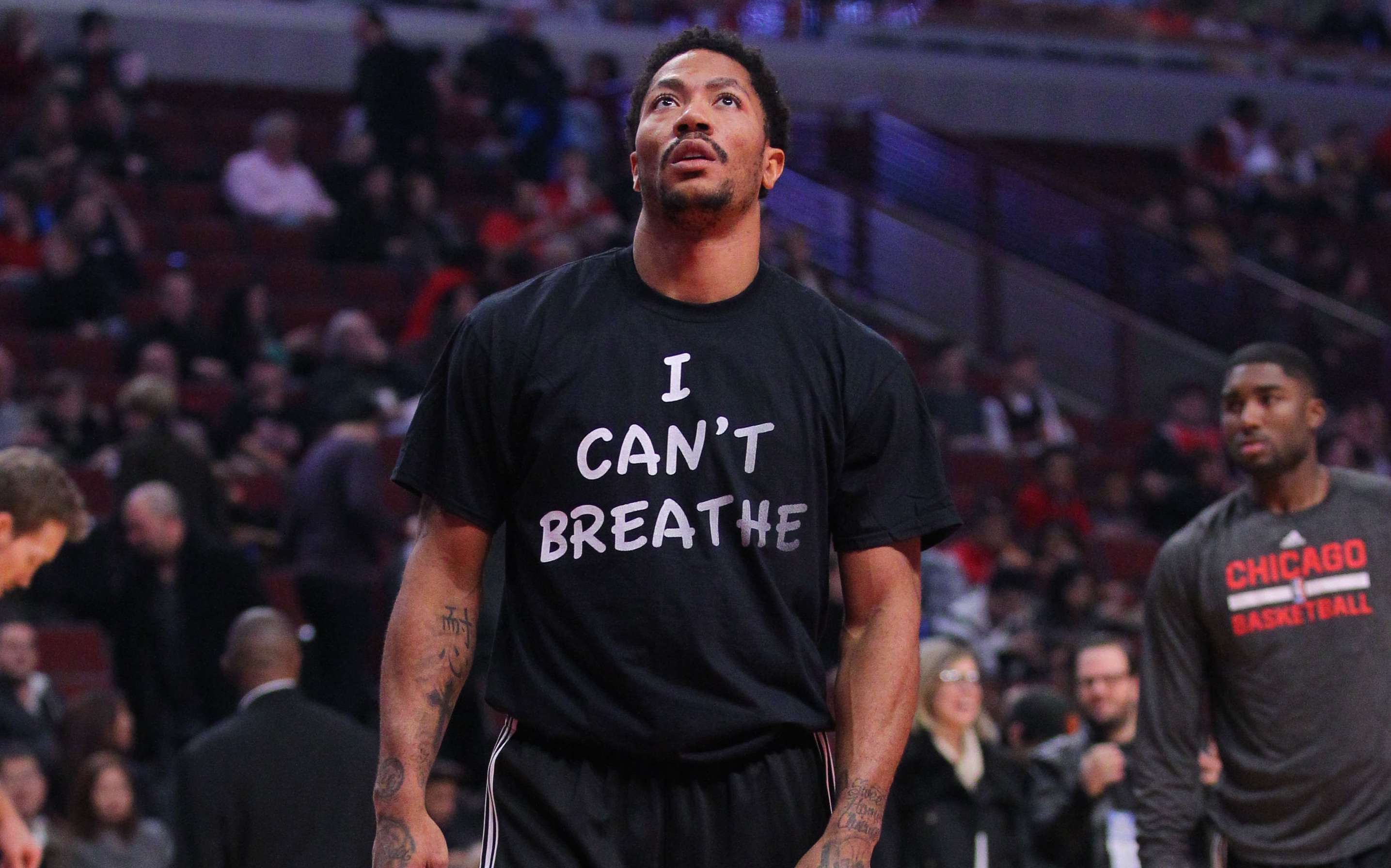 Derrick Rose Discusses Decision To Wear I Cant Breathe