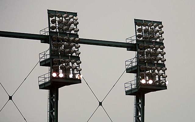The lights at Comerica Park went out for 17 minutes during the middle of ALCS Game 3.
