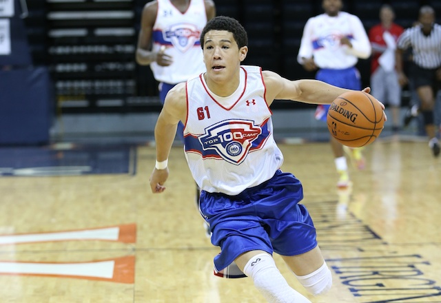 Devin Booker is one of the best shooters in the class of 2014. (Kelly Kline/Under Armour)