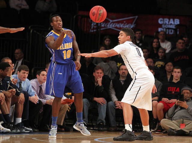 Delaware's Devon Saddler had 46 points in his two games before suspension. (USATSI)