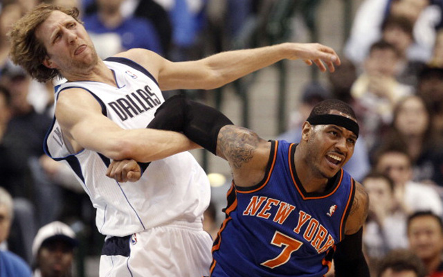 Could Dirk Nowitzki and Carmelo Anthony battle together in Dallas? (USATSI)