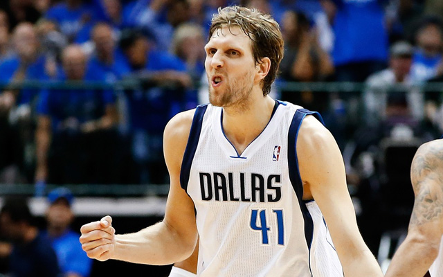 Dirk Nowitzki thinks he's sticking with Dallas.   (USATSI)