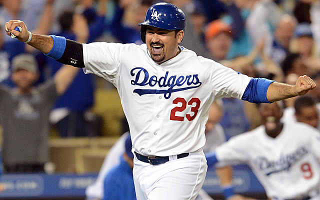 Adrian Gonzalez changed addresses last August 25.