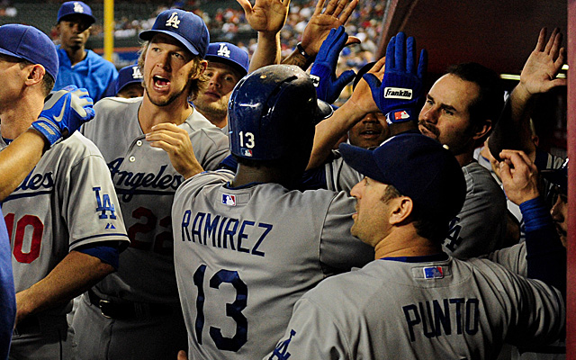 Hanley Ramirez's two homers were integral to the Dodgers clinching the West Thursday.