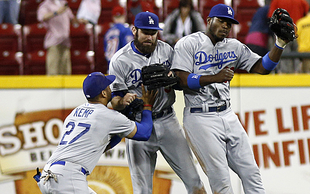 The Dodgers outfield logjam is becoming a bit of a mosh pit.