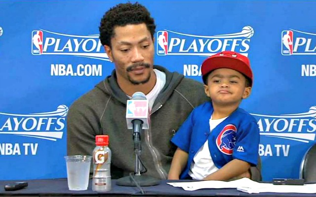 LOOK: Derrick Rose wears shirt with his son's meme face on ...