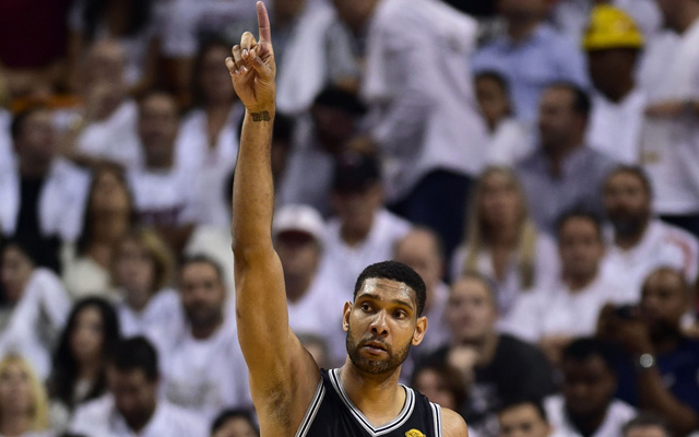 Tim Duncan is leading the Spurs as he has so often.   (USATSI)