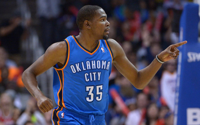 Kevin Durant leads the MVP pack early on.  (USATSI)