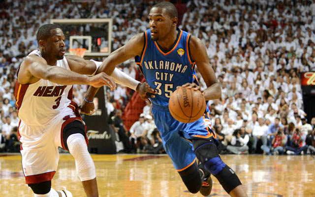 Kevin Durant and Dwyane Wade continue to feud.   (USATSI)