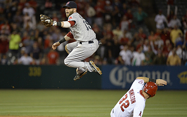 Dustin Pedroia's gotta be jumping for joy with his new deal.