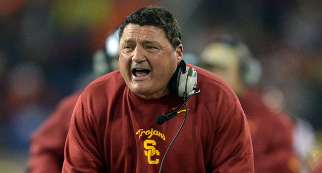 Ed Orgergon went 6-2 after replacing Lane Kiffin. (USATSI)