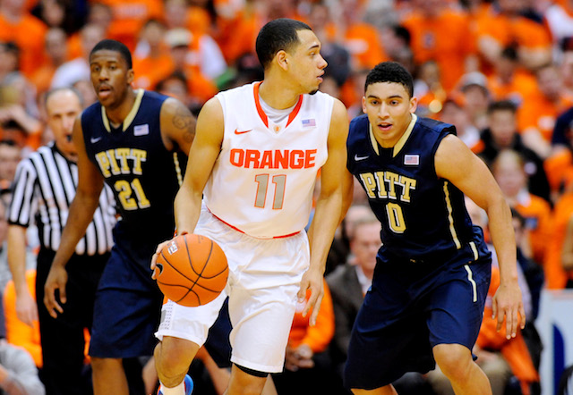 The point guard matchup between Tyler Ennis and James Robinson will be key. (USATSI)