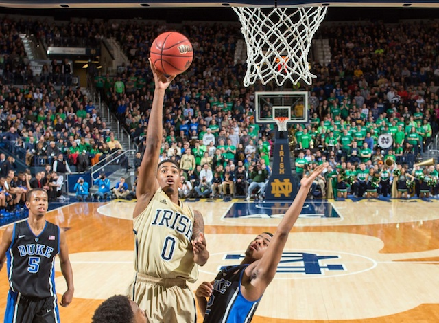Eric Atkins had 19 points and 10 assists to help Notre Dame beat Duke. (USATSI)