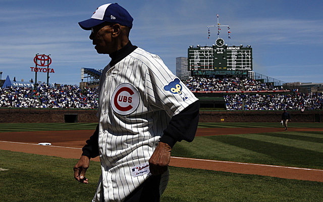 Ernie Banks made the 100th Anniversary celebration at Wrigley, but he wished Sammy Sosa was with him.