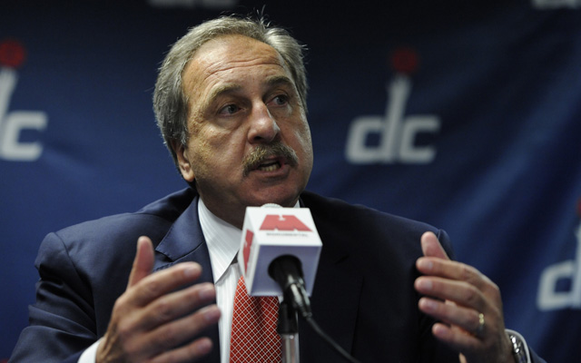 Ernie Grunfeld will be with the Wizards at least one more year reportedly.  (USATSI)