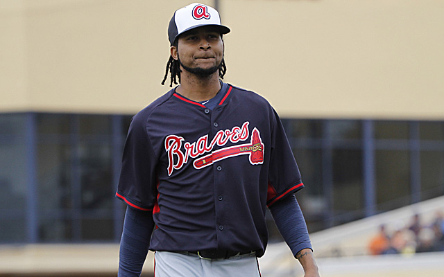 Ervin Santana should be joining the Braves' rotation pretty soon.