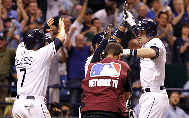 Evan Longoria's three-run homer was a huge blow for the Rays.