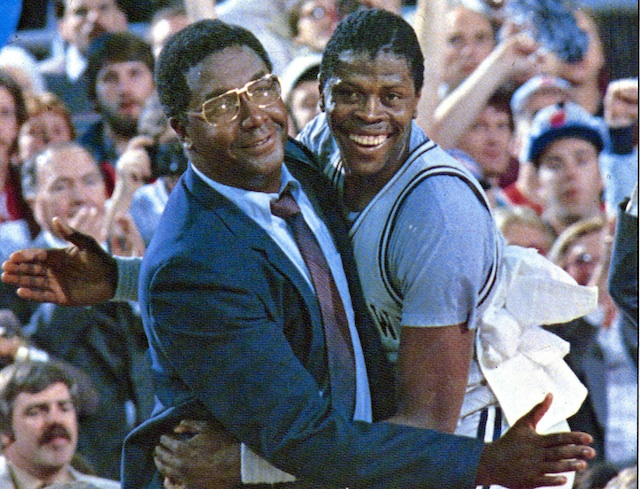 John Thompson and Patrick Ewing went to three Final Fours at Georgetown. (Getty Images)