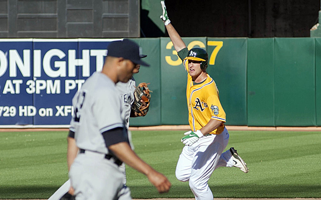 The A's outlasted the Yankees in yet another extra-inning game Thursday.