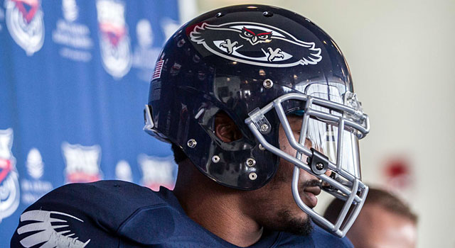 Florida Atlantic did a helmet redesign with its move to Conference USA. (USATSI)