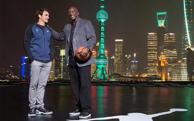 Roger Federer and Michael Jordan, buddies.  (Twitter)