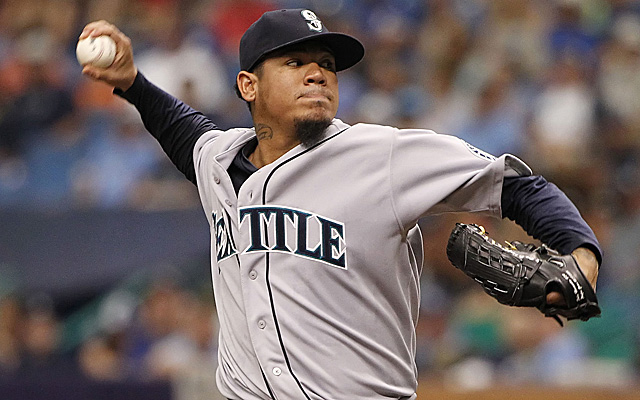 Felix Hernandez looks like the leader in the clubhouse to start the All-Star Game.