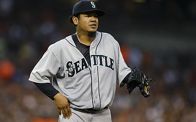 King Felix's hip is OK after being struck on Saturday.