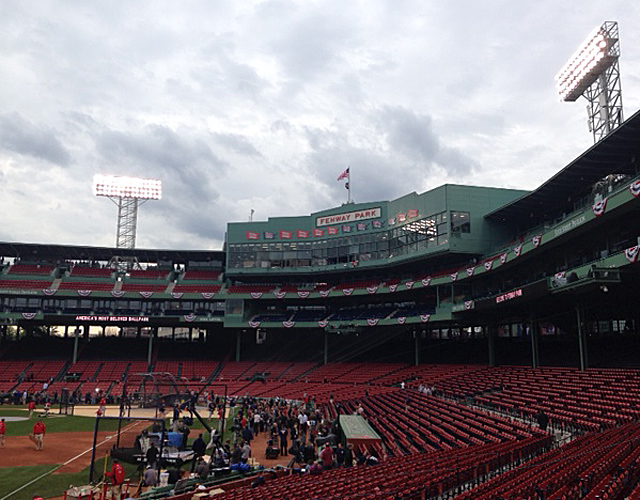 Fenway Park's very recognizable press box.