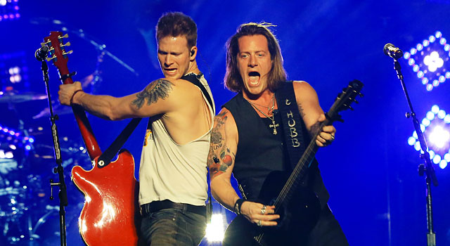 Brian Kelley and Tyler Hubbard of Florida Georgia Line like Michigan State to win it all. (Getty)