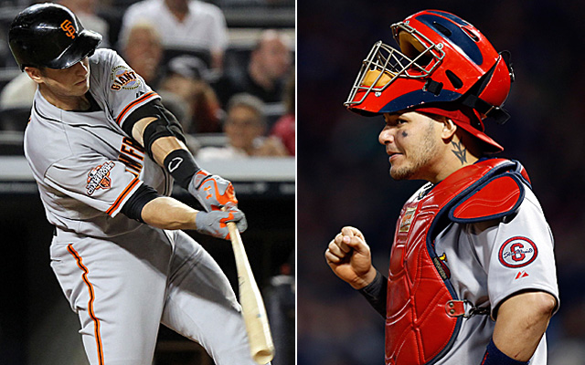 Buster Posey's sweet swing along with Yadier Molina's arm? Sign us up.