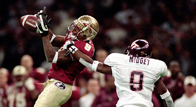 Peter Warrick and Florida State ended up beating Virginia Tech in the 1999 Sugar Bowl. (Getty)