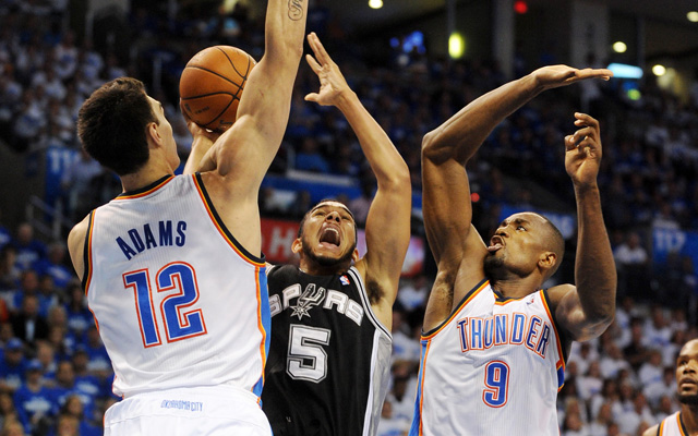 With Serge Ibaka back, the Spurs look overwhelmed.   (USATSI)