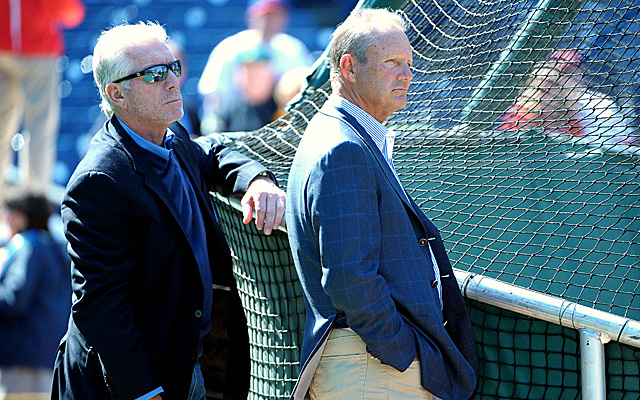 New Royals hitting coach George Brett (right), along with fellow all-timer Mike Schmidt.