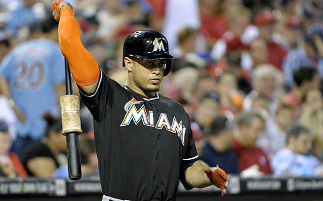 Giancarlo Stanton is on the outside looking in right now in NL outfield voting.
