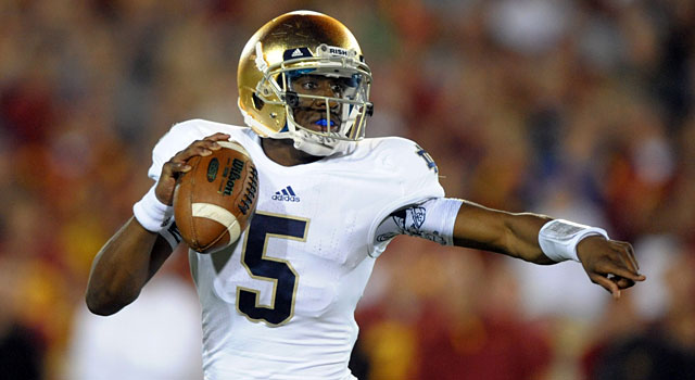 Brian Kelly says Everett Golson has the 'wow factor' but wants him to be great. (USATSI)