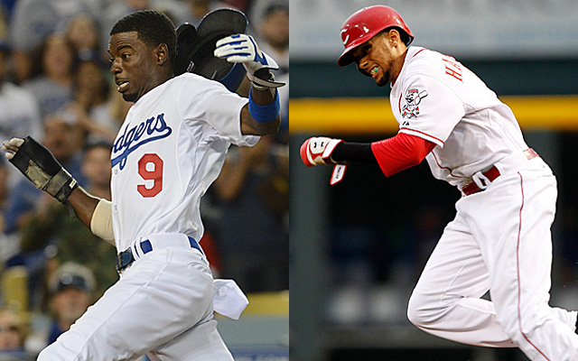 Speedsters Dee Gordon and Billy Hamilton would make great late-inning pinch runners for the NL.
