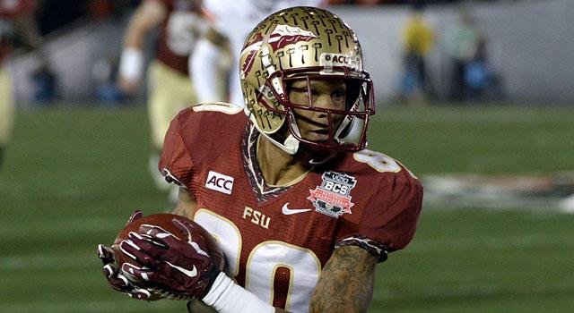 Florida State's Rashad Greene looks up field after catching a pass. (USATSI)